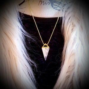 "Jewelry - ""Initiation"" Howlite Crystal Pyramid Pendant"